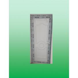 UPVC Single Sash Door with Decor Panel