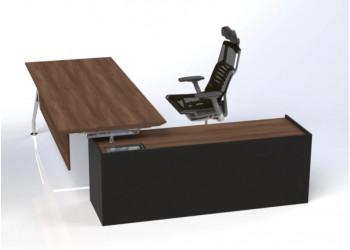 Midas Desk with Credenza Return