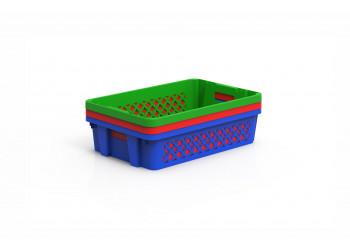 Plastic Storage crate Ventilated 60x40x15cm
