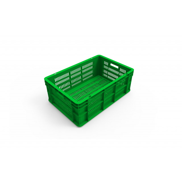Plastic Storage Crate Ventilated 60x40x22cm