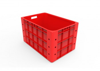 Plastic Storage Closed Crate 60 x 40 x 35cm