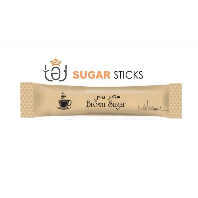 Sugar Sticks - Brown 6g (1500 sticks per carton)