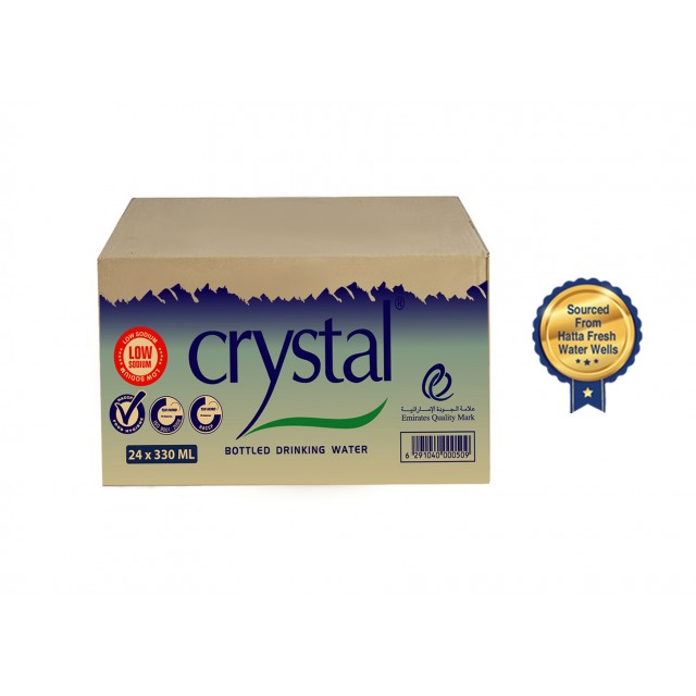 Crystal Bottled Drinking Water 330 ml (24pcs per box)