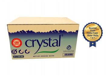 Crystal Bottled Drinking Water 500 ml (24pcs per box)