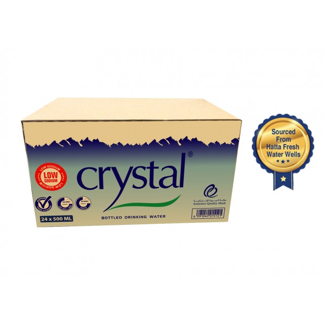 Crystal Bottled Drinking Water 500 ml